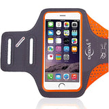 Water Resistant Sports Armband 5.5 Inch for iPhone 7 Plus, 6s Plus, 6 Plus, Running Exercise Multifunction Phone Case for Android Phones (Orange), DEDEni