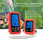Meat Thermometer Digital Grill Oven or Smoker Remote Food Thermometer, Wireless Remote Digital Cook Food Thermometer with Dual Probe for Grill Thermometer, BBQ Thermometer for Outdoor Oven Kitchen