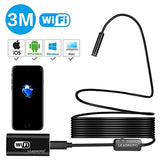 LEADNOVO Wireless Endoscope WiFi Borescope Inspection Camera 2.0 Megapixels HD 8 LED Lights 3M Semi-rigid Snake Camera for Android IOS PCB detection Sewer pipeline motor vehicle detector