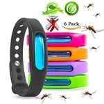 Mosquito Repellent Bracelets - Natural Deet Free - Waterproof Anti Mosquito Band - Bug & Insect Protection Wrist Bands for Adults & Kids, Perfect for Indoor Outdoor Travel Camping Hiking- 6 Pack