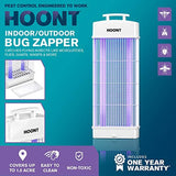 Hoont Powerful Electric Indoor Outdoor Bug Zapper and Fly Zapper Catcher Killer Trap – Protects Up to 1.5 Acre / Bug and Fly Killer, Insect Killer, Mosquito Killer – For Residential and Commercial Use