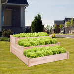 "Giantex Raised Garden Bed Kit Elevated Planter Box for Vegetables Fruits Herb Grow, Heavy Duty Natural Cedar Wood Frame Gardening Planting Bed for Deck, Patio or Yard Gardenin, 49""X23""X30.0""(LXWXH)"