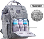 Diaper Bag Backpack, Multi-Function Waterproof Maternity Nappy Bags for Travel with Baby, Large Capacity, Stylish and Durable, Gray
