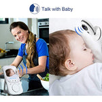 Video Baby Monitor with Auto Night Vision Digital Camera, Two Way Talkback, Temperature Sensor, Lullabies, VOX Function, Feed Alarm/Timer Setting and 20 Hours Standby (2.4 Inch LCD Display) by Talent star