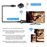 Wireless HDMI Display Adapter Transmitter,Miracast Dongle 1080P iPhone Ipad to TV,Toneseas Streaming Media Player,Airplay Receiver for MacBook Laptop Samsung Android Smart Phones - Creative Gift