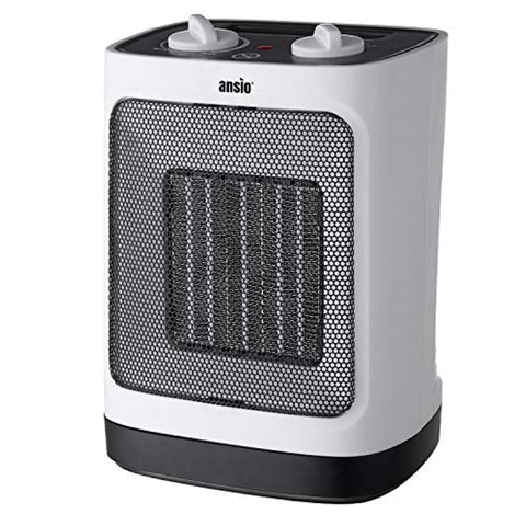 ANSIO Electric Heater Ceramic Space Heater for Home and Office Ceramic Small Heater with 1500W Oscillating, Overheat Protection Ideal for Small & Medium Rooms - 2 Year Warranty