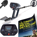 NHI Classic Metal Detector With Pinpointer - All Terrain Waterproof Search Coil Detects All Metal - Digging Tool & Beginners Guide Book Included - Lightweight Metal Detectors for Adults & Kids