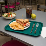 "Carlisle CT121615 Café Standard Cafeteria / Fast Food Tray, 12"" x 16"", Teal"