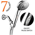 HotelSpa 7-Setting Hand Shower with On/Off Pause, Chrome, 4""