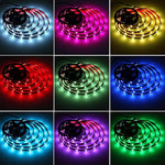 Battery Powered LED Strip Lights, Leimaq Led strip lights Battery Operated USB Powered TV Backlight Led Light Strip With RF Remote Waterproof Led Tape Light Multi Color Changing RGB SMD 5050 Rope Ligh