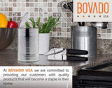 Can Opener With Rubber Grip Handles - Heavy Duty Chromed Steel - Black - By Bovado USA