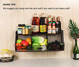 TQVAI Hanging Wall Mounted Fruit Basket Bathroom Storage Bin for Holding Veggies, Snacks, Kid Toys, Bath Towel, Sundries, Brown