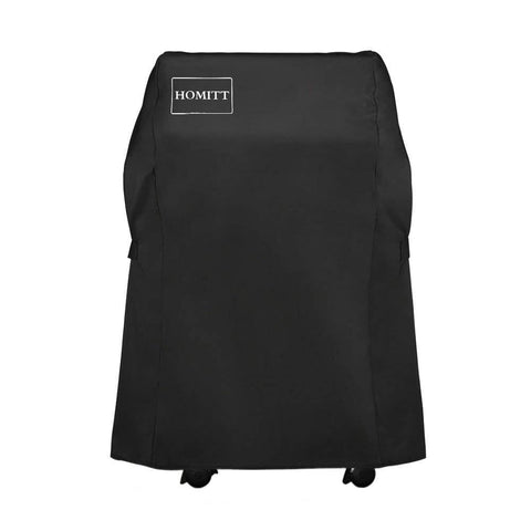 Homitt 7107 Grill Cover Kit, 44in X 60in Heavy Duty Waterproof PVC Facing BBQ Gas Grill Cover with Stainless Steel Grill Brush and Cooking Thermometer