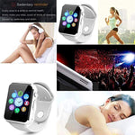 Bluetooth Smart Watch for iOS iPhone Android System Qidoou Wrist Watch Camera SIM Card Sleep Monitor Step Calories Tracker Alarm Clock Call/Message Reminder Anti-Lost for Adults and Kids(White)