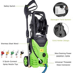ncient NIS4600 High Pressure Power Washer 3000 PSI Electric Pressure Washer,1800W Rolling Wheels High Pressure Professional Washer Cleaner Machine+ (5) Nozzle Adapter (3000 PSI - New Model)