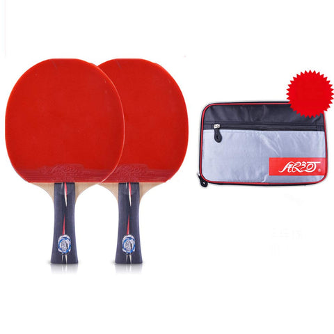 SSHHI Table Tennis 2 Player Set,Comfortable Handle,Ping Pong Paddle Set,Can Be Used for Indoor and Outdoor Game,Fashion/As Shown/A