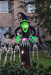 Bigjoys 8 Ft Halloween Inflatable Witch Ghost Decoration Lantern for Home Indoors Outdoors Yard Lawn Party Supermarket