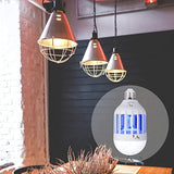 Bug Zapper Light Bulb, Electronic Insect Killer, Mosquito Zapper Lamp, Fly Killer, Built in Insect Trap, 110V E26/E27 Light Bulb Socket Base for Home Indoor Outdoor Garden Patio Backyard