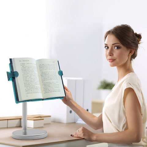 Free Book Stand Flexible Folding Document Holder Adjustable Reading Height and Angle for Hard Covers, Paperbacks, CookBooks by SYITCUN