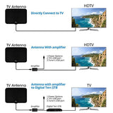 [2018 Upgraded] HDTV Antenna - Digital Amplified HD TV Antenna 50-80 Mile Range 4K HD VHF UHF Freeview Television Local Channels w/Detachable Signal Amplifier and 16.5ft Longer Coax Cable