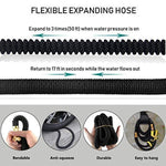 Garden Hose, Lightweight Expandable Water Hose Set, Outdoor Expanding Flexible Double Latex Core Yard Hose with 3/4 Solid Brass Fitting, 9 Functions Spray Nozzle and Hanger