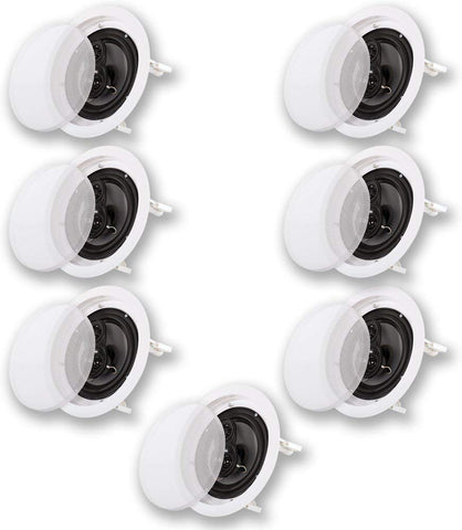 "Acoustic Audio CS-IC83 in Ceiling 8"" Home Theater 7 Speaker Set 3 Way 2450 Watt CS-IC83-7S"