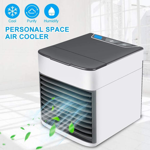 MKYUHP Artic Air Personal Air Cooler, Portable Air Conditioner, USB Mini Evaporative Air Cooler, Humidifier, Purifier with 3 Speeds and Extra Quiet Sleep Mode for Office Room Outdoors