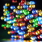 GDEALER Solar String Lights 72feet 200 LED 2 Modes Solar Powered Waterproof Starry Fairy Outdoor String Lights holiday Decoration Lights for Patio Gardens Homes Landscape Wedding Party