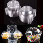 50 Pack Clear Plastic Single Individual Cupcake Muffin Dome Holders Cases Boxes Cups Pods by Cakes of Eden