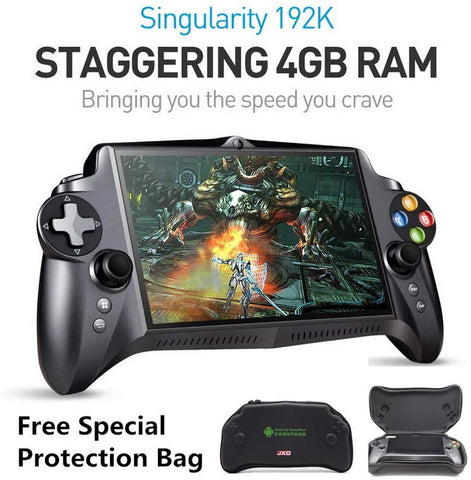 New JXD S192K 7 inch IPS screen 4GB+64GB quad core tablet pc gamepad android game console 10000mAh battery bluetooth support Google Store andriod game/pc game/18 simulators game support button mapping