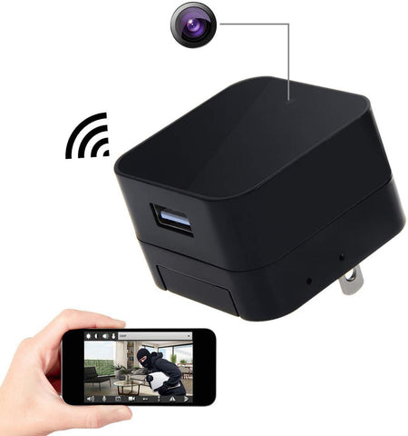Spy Camera Wireless Hidden Cam, Corprit HD 1080P WIFI USB Charger Adapter Mini Hidden Camera Home Security
