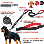 Primal Pet Gear Dog Leash 8ft Long - Traffic Padded Two Handle - Heavy Duty - Double Handles Lead for Control Safety Training - Leashes for Large Dogs or Medium Dogs - Dual Handles Leads