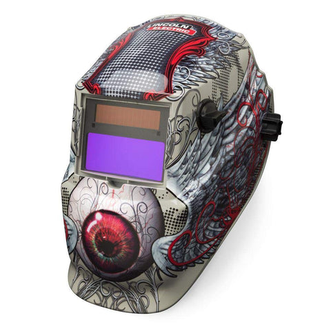 Lincoln Electric, K3190-1, Welding Helmet, Shade 9 to 13, Tan/Red