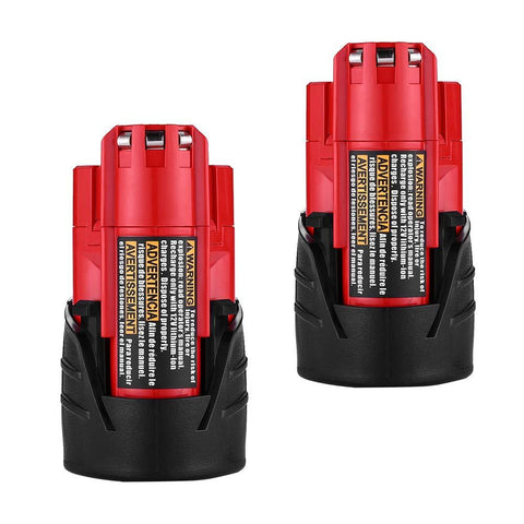 Batteries for Milwaukee M12 48-11-2401 Replace RED LITHIUM 12-volt 3.0Ah Cordless Tool Battery by Fhybat