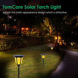 TomCare Solar Torches Lights, Waterproof Flickering Flame Solar Outdoor Lights Landscape Decoration Solar Torch Light Dusk to Dawn Auto On/Off Solar Spotlight for Yard Pool Garden Patio Deck
