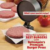 "Bellemain Burger Press Non-Stick Hamburger Patty Maker Makes 4 1/2"" Patties, 1/4lb to 3/4lb"