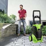 Binxin 2030 PSI Electric Pressure Washer 1.76GPM w/Power Hose Nozzle Gun and 5 Quick-Connect Spray Tips