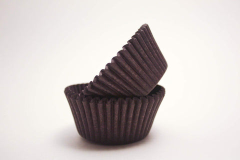 DECONY Brown mini Cupcake Liners Baking Cups, 1-1/2 x 1'' = 3.5 appx. 500-count