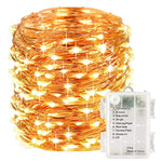 LightsEtc 100 Led Fairy String Lights Battery Operated 33ft Copper Wire Warm White Christmas Lights Copper Wire Christmas Lights Christmas Decor Warm White