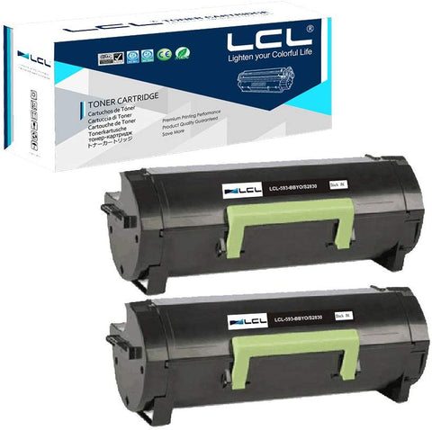 LCL Compatible Toner Cartridge Replacement for Dell 593-BBYO FR3HY TC2RH S2830dn S2830 (2-Pack Black)