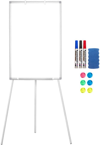 Maxtek Easel Whiteboard - Magnetic Portable Dry Erase Easel Board 36 x 24 Tripod Whiteboard Height Adjustable Flipchart Easel Stand White Board for Office or Teaching at Home & Classroom (Black)
