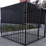 10' X 10' Black UV Rated Dog Kennel Shade Cover, Sunblock Shade Panel, Shade Tarp Panel W/Grommets (Not the kennel)