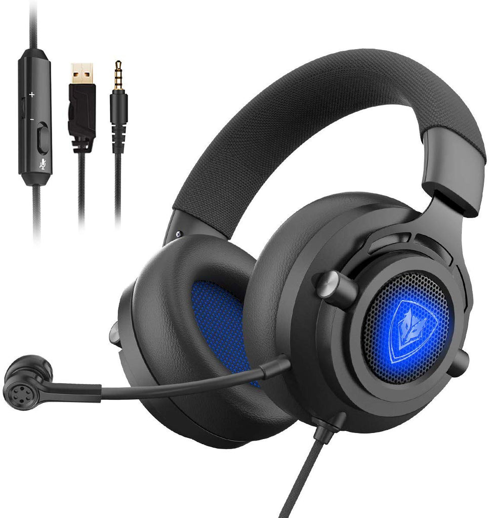 Platinum Grey Picun P26 Bluetooth Headphones Over Ear 40H Playtime Hi-Fi Stereo Wireless Headphones Deep Bass Foldable Wired//Wireless//TF for Cell Phone//PC Bluetooth 5.0 Wireless Headset with Mic