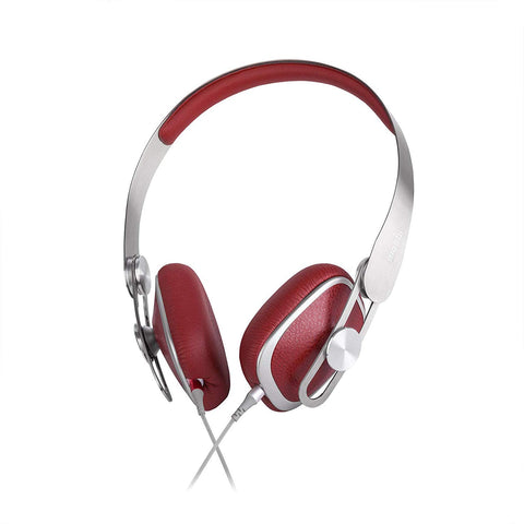 Moshi Avanti C On-Ear Headphones with USB Type-C, 24-bit/96 kHz, Class G Amplifier [Carrying Case Included], Burgundy Red
