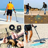 URCERI GC-1069 Metal Detector, High Accuracy Waterproof Treasure Hunting Tool, 2 Modes Outdoor Gold Digger with Sensitive Search Coil, Folding Shovel and Headphone for Beginners Professionals