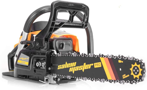 SALEM MASTER 4216H 42CC 2-Cycle Gas Powered Chainsaw, 14-Inch Chainsaw, Handheld Cordless Petrol Gasoline Chain Saw for Farm, Garden and Ranch