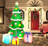 Joiedomi 7 Foot LED Light Up Giant Christmas Tree Inflatable with 3 Gift Wrapped Boxes Perfect for Blow Up Yard Decoration, Indoor Outdoor Yard Garden Christmas Decoration
