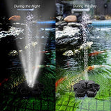 Flantor Solar Power Pump, Rose Bird bath Fountain Pump Brushless Pump for Garden and Patio Watering (Black) Quantity remaining