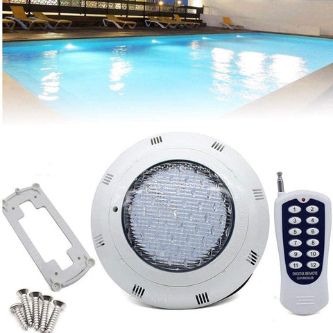 UBEGOOD LED RGB Underwater Swimming Pool Light 45W 12V AC/DC 304 Stainless Steel Color Changing Surface/Wall Mounted Waterproof IP68 Submersible Inground Pool Light