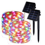 2 Pack Solar String Lights, 33ft 8 Modes Copper Wire Lights, 100 LED Starry Lights, Outdoor String Lights, Waterproof Decorative String Lights for Patio, Garden, Yard, Party, Wedding, Christmas by DEKOUH